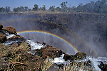 Victoria Falls With Rainbow