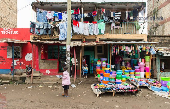 June 22, 2016; Dandora slums of Nairobi, Kenya.  (Photo by Barbara Johnston/University of Notre Dame)