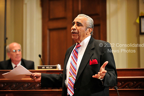 United States Representative Charles Rangel (Democrat of New York) pleads with for a contiunence so he can  hire a lawyer at the hearing before the U.S. House Committee on Standards of Official Conduct in Washington, D.C. on Monday, November 15, 2010..Credit: Ron Sachs / CNP.(RESTRICTION: NO New York or New Jersey Newspapers or newspapers within a 75 mile radius of New York City)