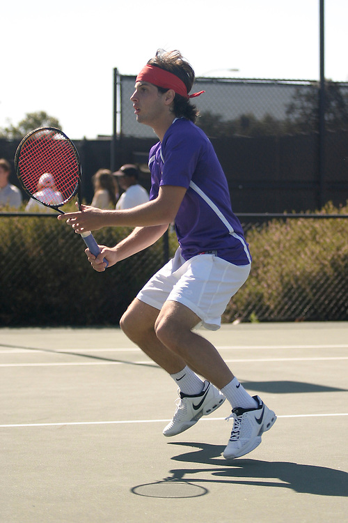 SAN DIEGO, CA - APRIL 18:  Nikoloz Kurdadze of the Portland Pilots after day two of the West Coast Conference Tennis Championships on April 18, 2009 at the Barnes Tennis Center in San Diego, California.