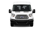 Car photography straight front view of a 2019 Ford Transit Wagon 150 XLT Wagon Med Roof Sliding Pass. 130 5 Door Passenger Van