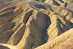 Eroded hills in the Black Mountains, Zabriskie Point, Amargosa Range, Death Valley National Park, California