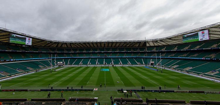 A general view of Twickenham, home of England Rugby<br /> <br /> Photographer Bob Bradford/CameraSport<br /> <br /> Guinness Six Nations Championship - England v France - Sunday 10th February 2019 - Twickenham Stadium - London<br /> <br /> World Copyright © 2019 CameraSport. All rights reserved. 43 Linden Ave. Countesthorpe. Leicester. England. LE8 5PG - Tel: +44 (0) 116 277 4147 - admin@camerasport.com - www.camerasport.com