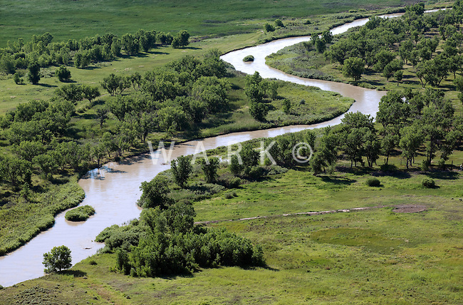 Arkansas River, Otero County, Colorado.  Near LaJunta. July 2014