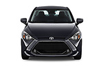 Car photography straight front view of a 2018 Toyota Yaris LE 4 Door Sedan