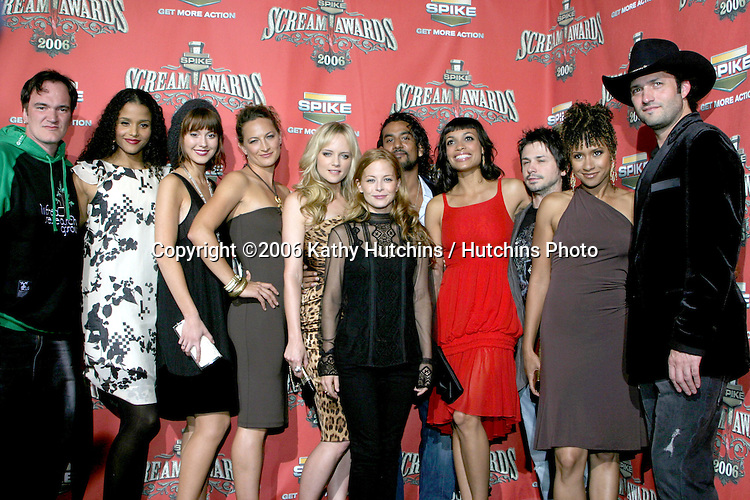 .Spike TV presents the Scream Awards.Pantages Theater.Los Angeles, CA.October 7 , 2006.©2006 Kathy Hutchins / Hutchins Photo....                 Grindhouse Cast and Producers.Spike TV presents the Scream Awards.Pantages Theater.Los Angeles, CA.October 7 , 2006.©2006 Kathy Hutchins / Hutchins Photo....