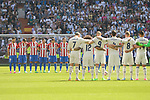 Real Madrid's players and Atletico de Madrid's players during La Liga match between Real Madrid and Atletico de Madrid at Santiago Bernabeu Stadium in Madrid, April 08, 2017. Spain.<br /> (ALTERPHOTOS/BorjaB.Hojas)