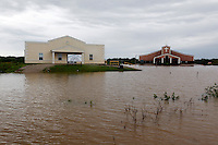 Granny Bea's Angels and Mt. Calvary Powerhouse Church sit in flooded water in Poplar Bluff, MO on Wednesday, April 27, 2011. By Wednesday night, official water levels in Poplar Bluff had reached to 19.54 feet.