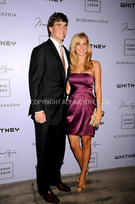 WWW.ACEPIXS.COM . . . . .....June 17, 2008. New York City.....NFL football player Eli Manning and Abby McGrew attend the Whitney Contemporaries' Art Party and Auction held at Skylight Studios on June 17, 2008 in New York...  ....Please byline: Kristin Callahan - ACEPIXS.COM..... *** ***..Ace Pictures, Inc:  ..Philip Vaughan (646) 769 0430..e-mail: info@acepixs.com..web: http://www.acepixs.com