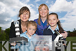 DISCOVER SCIENCE: Rathmorrell National School, Causeway, received an award for Excellence in Science on Thursday last. Pictured are students Cian Foran and Louise Hobbert with their Principal Sheila Egan and Teacher Sarah Behan..