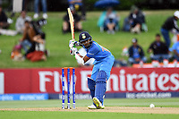 India's captain Prithvi Shaw in action while batting during the ICC U-19 Cricket World Cup 2018 Finals between India v Australia, Bay Oval, Tauranga, Saturday 03rd February 2018. Copyright Photo: Raghavan Venugopal / © www.Photosport.nz 2018 © SWpix.com (t/a Photography Hub Ltd)