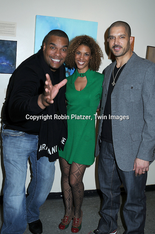 actors Sean Ringgold and Terrell Tilford of One Life to Live and Victoria Platt