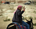 A PIECE OF JORDAN - TRAVEL FEATURE. BEDOUNS  IN THE DESERT NEAR LITTLE PETRA. PHOTO BY CLARE KENDALL. 07971 477316.