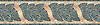 "10"" Milano border, a hand-cut stone mosaic, shown in tumbled Verde Alpi, Rosa Verona, Travertine Noce, and Jerusalem Gold."