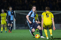 Stephen McGinn of Wycombe Wanderers in action during the Sky Bet League 2 match between Wycombe Wanderers and Oxford United at Adams Park, High Wycombe, England on 19 December 2015. Photo by Andy Rowland.