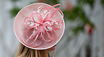 LOUISVILLE, KY - MAY 04: A woman wears a fancy pink hat on Kentucky Oaks Day at Churchill Downs on May 4, 2018 in Louisville, Kentucky. (Photo by Eric Patterson/Eclipse Sportswire/Getty Images)
