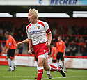 Mark Roberts of Stevenage Borough celebrates scoring the first goal during the Blue Square Premier match between Stevenage Borough and Salisbury City at the Lamex Stadium, Broadhall Way, Stevenage on 17th October, 2009.© Kevin Coleman 2009 .