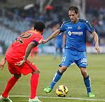 Getafe´s Michel during 2014-15 La Liga match at Coliseum Alfonso Perez stadium in Madrid, Spain. December 13, 2014. (ALTERPHOTOS/Victor Blanco)