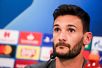 Goalkeeper of Tottenham Hotspur, Hugo Lloris attends a press conference ahead of the UEFA Champions League match against Olympiacos FC, in Karaiskaki Stadium in Piraeus, Greece. Tuesday 17 September 2019