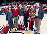 Stanford's Mikaela Ruef, after Stanford women's basketball  vs Washington State at Maples Pavilion, Stanford, California on March 1, 2014.