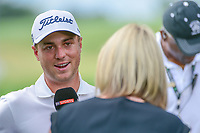 Justin Thomas (USA) during a post round interview following  Saturday's round 3 of the 117th U.S. Open, at Erin Hills, Erin, Wisconsin. 6/17/2017.<br /> Picture: Golffile | Ken Murray<br /> <br /> <br /> All photo usage must carry mandatory copyright credit (&copy; Golffile | Ken Murray)