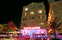 Hot spot watering hole at busiest corner on Ocean Drive.  Arch - Albert Anis, 1938. Ocean Dr. + 10 St., M. Beach FL USA.
