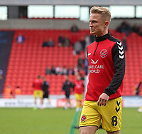 Fleetwood Town's Kyle Dempsey during the pre-match warm-up <br /> <br /> Photographer David Shipman/CameraSport<br /> <br /> The EFL Sky Bet League One - Doncaster Rovers v Fleetwood Town - Saturday 6th October 2018 - Keepmoat Stadium - Doncaster<br /> <br /> World Copyright © 2018 CameraSport. All rights reserved. 43 Linden Ave. Countesthorpe. Leicester. England. LE8 5PG - Tel: +44 (0) 116 277 4147 - admin@camerasport.com - www.camerasport.com