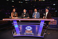 "LOS ANGELES - SEPTEMBER 28:  Kate Abdo, Ray Mancini, Danny Garcia and Keith Thurman at the Fox Sports PBC ""Fight Night"" - Errol Spence Jr. vs Shawn Porter on September 28, 2019 in Los Angeles, California. (Photo by Frank Micelotta/Fox Sports/PictureGroup)"