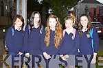 Micheala Murtagh, Laura Bartley, Roisin O'Gara, Jane Mathews and Hannah Greene from Our Lady's College, Greenhills, Drogheda, at the Young Entrepreneur 2011 Blue Sky Day.