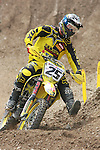 Belgium Clement Desalle rides during the  MXGP World Championship Motocross at Pietramurata, Italy on April 13, 2014.