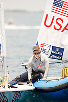 20111205, PERTH, AUSTRALIA: PERTH 2011 ISAF SAILING WORLD CHAMPIONSHIPS - 1200 sailors from 79 countries compete to qualify their nation for the 2012 Olympics. Racing Day 3. Laser Radial Class - Paige RAILEY (USA). Photo: Mick Anderson/SAILINGPIX.DK
