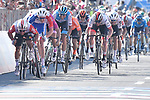 Caleb Ewan (AUS) Lotto-Soudal charges for the finish line ahead of Arnaud Demare (FRA) Groupama-FDJ at the end of  Stage 11 of the 2019 Giro d'Italia, running 221km from Carpi to Novi Ligure, Italy. 22nd May 2019<br /> Picture: Fabio Ferrari/LaPresse | Cyclefile<br /> <br /> All photos usage must carry mandatory copyright credit (© Cyclefile | Fabio Ferrari/LaPresse)