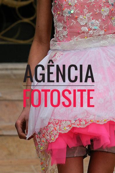 São Paulo, Brasil – 11/06/2010 - Detalhe do desfile da grife Cavalera durante o São Paulo Fashion Week  -  Verao 2011. Foto: Olivier Claisse / Ag. Fotosite