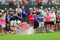 Stewart Cink (USA) hits from the trap on 18 during round 4 of the Dean &amp; Deluca Invitational, at The Colonial, Ft. Worth, Texas, USA. 5/28/2017.<br /> Picture: Golffile | Ken Murray<br /> <br /> <br /> All photo usage must carry mandatory copyright credit (&copy; Golffile | Ken Murray)