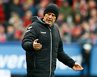 Christian STREICH, Trainer SCF, Halbkoerper, Coachingzone,    Fussball, 1. Bundesliga  2017/2018<br /> <br />  <br /> Football: Germany, 1. Bundesliga, SC Freiburg vs Bayer 04 Leverkusen, Freiburg, 03.02.2018 *** Local Caption *** © pixathlon<br /> Contact: +49-40-22 63 02 60 , info@pixathlon.de
