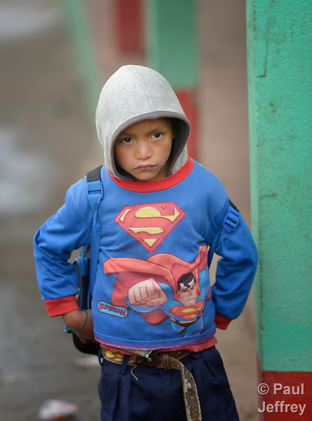 Jose Antonio Perez is a 7-year old boy in San Jose la Frontera, a small Mam-speaking Maya village in Comitancillo, Guatemala.