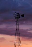 Windmill at sunrise, Iowa