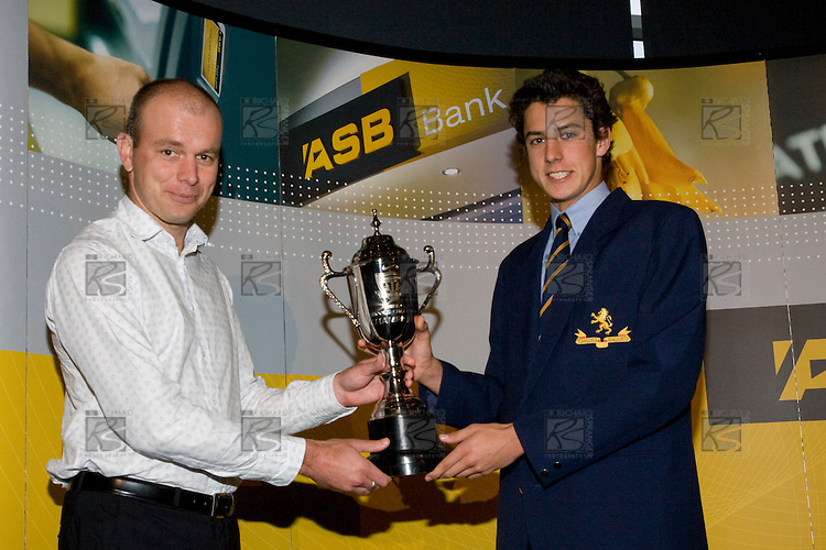 Nike Plus Challenge Trophy presentation to Auckland Grammar School at the ASB College Sport Young Sportperson of the Year Awards 2008 held at Eden Park, Auckland, on Thursday November 13th, 2008.