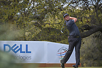Jon Rahm (ESP) watches his tee shot on 10 during day 2 of the World Golf Championships, Dell Match Play, Austin Country Club, Austin, Texas. 3/22/2018.<br /> Picture: Golffile | Ken Murray<br /> <br /> <br /> All photo usage must carry mandatory copyright credit (&copy; Golffile | Ken Murray)