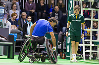 Rotterdam, The Netherlands, 14 Februari 2019, ABNAMRO World Tennis Tournament, Ahoy, Wheelchair, Final, Stephane Houdet (FRA),<br /> Photo: www.tennisimages.com/Henk Koster