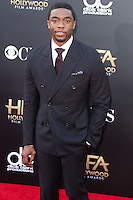 HOLLYWOOD, LOS ANGELES, CA, USA - NOVEMBER 14: Chadwick Boseman arrives at the 18th Annual Hollywood Film Awards held at the Hollywood Palladium on November 14, 2014 in Hollywood, Los Angeles, California, United States. (Photo by Xavier Collin/Celebrity Monitor)