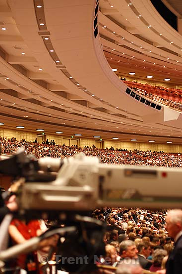 sequence. Funeral for LDS President Gordon B. Hinckley, at the church's conference center