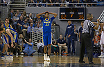 San Jose State guard  Seneca Knight (23) reacts after a foul is call on his team in the first half of an NCAA college basketball game against Nevada in Reno, Nev., Wednesday, Jan. 9, 2019. (AP Photo/Tom R. Smedes)