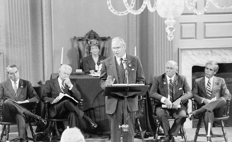 Speaker of the House Rep. James Claude Wright, D-Tex., House of Representatives Member, giving a speech during a meeting. (Photo by CQ Roll Call)