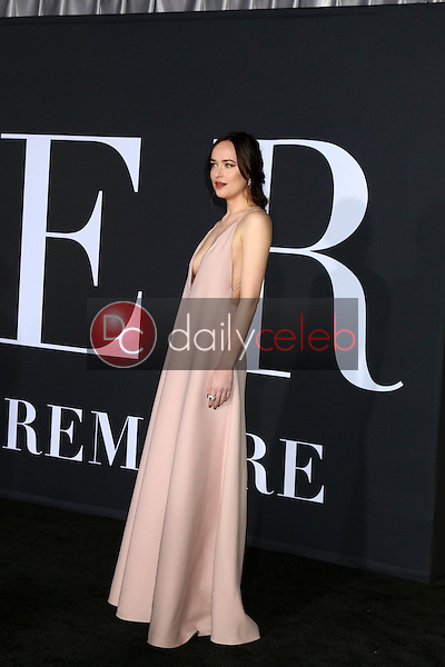 "Dakota Johnson<br /> at the ""Fifty Shades Darker"" World Premiere, The Theater at Ace Hotel, Los Angeles, CA 02-02-17<br /> David Edwards/DailyCeleb.com 818-249-4998"