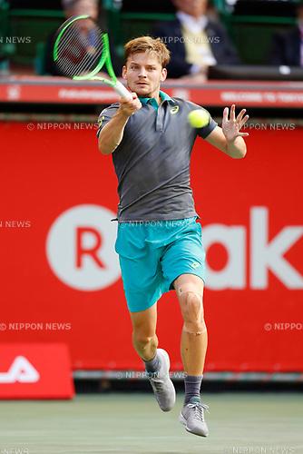 David Goffin (BEL), <br /> OCTOBER 5, 2017 - Tennis : <br /> Rakuten Japan Open Tennis Championships 2017 <br /> Singles 2nd round match <br /> at Ariake Coliseum, Tokyo, Japan. <br /> (Photo by Yohei Osada/AFLO SPORT)