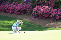 Cameron Smith (AUS) on the 13th green during the 1st round at the The Masters , Augusta National, Augusta, Georgia, USA. 11/04/2019.<br /> Picture Fran Caffrey / Golffile.ie<br /> <br /> All photo usage must carry mandatory copyright credit (© Golffile | Fran Caffrey)