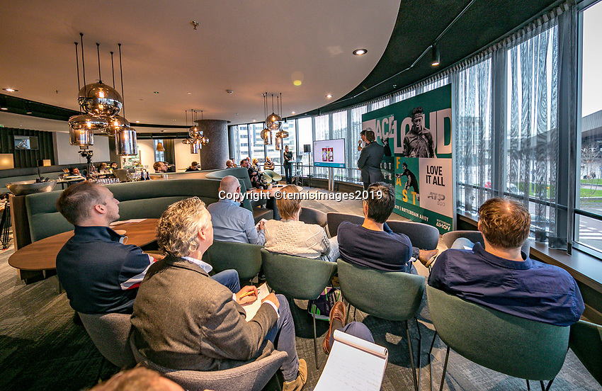 Rotterdam, The Netherlands, 10 Januari 2019, ABNAMRO World Tennis Tournament, Pressconference<br /> Photo: www.tennisimages.com/Henk Koster