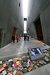 Yad Vashem, the Holocaust Martyrs' and Heroes' Authority. The new Holocaust History Museum designed by Moshe Safdie (2005)<br />