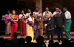 Jennifer Hudson, Cynthia Erivo, Allee Willis, Marsha Norman, Stephen Bray with cast during the Broadway Opening Night Performance Curtain Call for 'The Color Purple' at the Bernard B. Jacobs Theatre on December 10, 2015 in New York City.